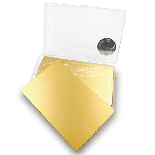 - Ebamaz Metal Business Cards Anodized Aluminum Plaque Plate 86X54X0.8mm (Golden, Blank,10PCS)