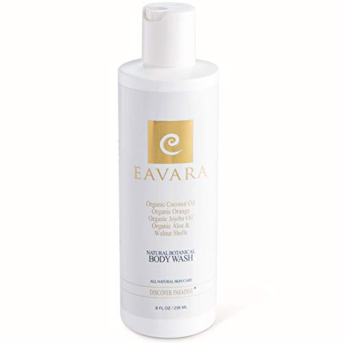 (Natural Organic Body Wash by Eavara - Exfoliating Moisturizing Shower Gel for Women and Men | Coconut Oil, Aloe, Green Tea, Jojoba Oil and Vitamin E for Dry, Sensitive or Oily Skin (8 fl oz))