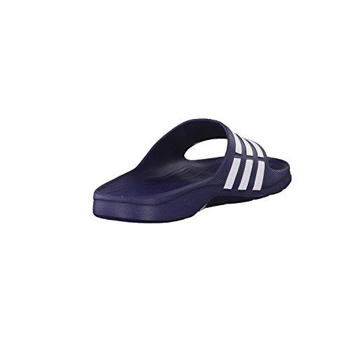 Adidas - Ciabatte da adulto, unisex, colore Dark Blue/White/Dark Blue, taglia 42