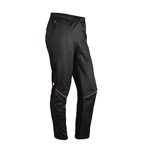 Sobike Men's Bike Cycling Pants Fleece Thermal Black for Winter-Gelimo Ⅱ (Asin XXL, (Sobike Cycling Fleece)
