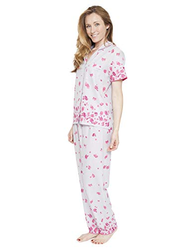 Cyberjammies 1300 Women's Nora Rose Ivy Grey Floral Print Pyjama Set