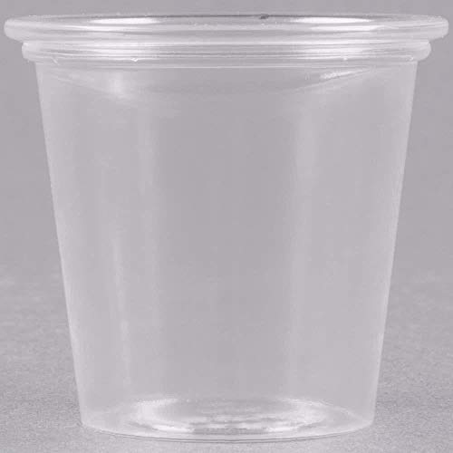Dart Solo T125-0090 1.25 oz. Plastic Souffle Cup / Shot Glas