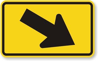 Amazon.com: Derecho Diagonal flecha (Símbolo) cartel, 30