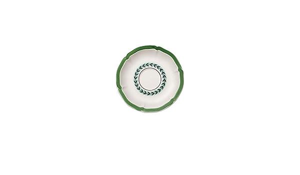 Villeroy /& Boch French Garden Green Line Plato para taza de t/é 15 cm Porcelana Premium Blanco//Verde