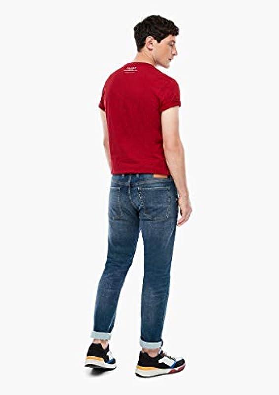 s.Oliver męskie spodnie slim fit: proste legginsy: s.Oliver: Odzież