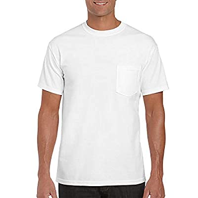 """Gildan Mens 6.1 oz. Ultra Cotton Short Sleeve Pocket T-Shirt G230 -Navy XL"""
