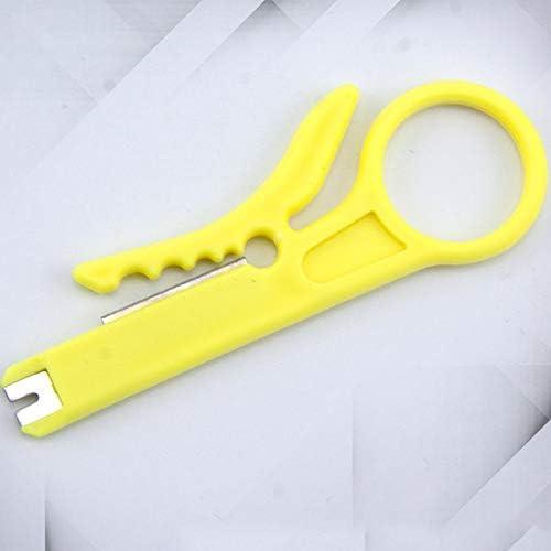 Jaune Outil de sertissage automatique pour d/énuder les pinces /à d/énuder les pinces multiprises de coupe-fil /à sertir