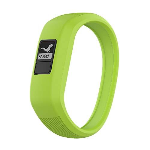 Haluoo for Garmin Vivofit Jr 3/Jr/Vivofit Jr.2 Bands for Kids, Soft Silicon Wristband Sport Strap Replacement Bands for Garmin Vivofit 3 / Jr/Jr 2 Kids Men Women Small Large (Large, Green)