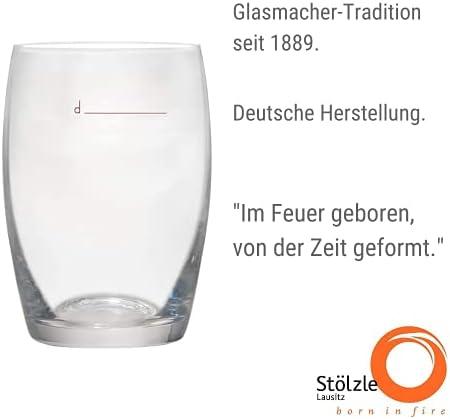 Stölzle Lausitz Declared Vaso de Vino Blanco The New 1/8 Glass White, 173 Juego de 6 ml Vaso de Vino, Hogar, de cristal de diseñadores Desarrollado, apto para lavavajillas, con marcador relleno