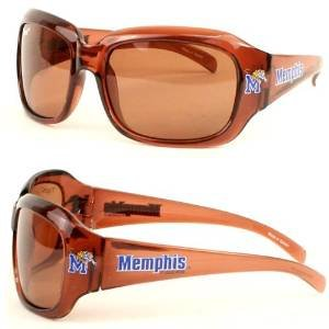 NCAA Officially Licensed Womens Large Brown Framed Sunglasses (Memphis Tigers)