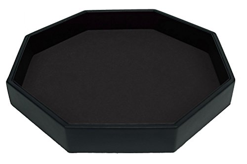 RNK Gaming 11.5 Inch Dice Tray PU Leather and Black Velvet -