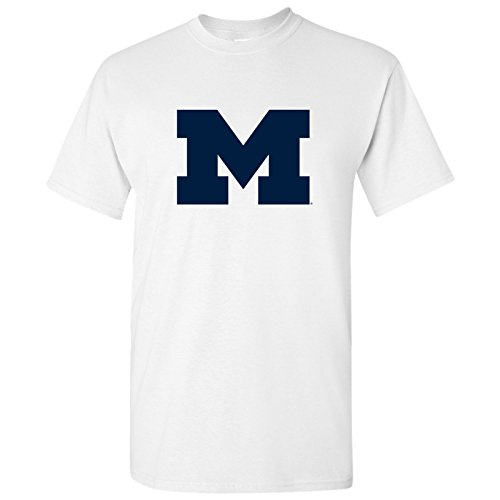 - Michigan Wolverines Primary Logo T-Shirt - X-Large - White
