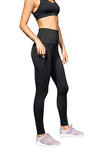 - VISNXGI Women's Athletic Yoga Pants High Waist Tummy Control Tight Slimming Leggings for Fitness Running Activewear (广州黑, X-Large)