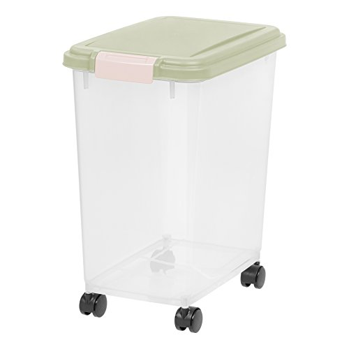 IRIS 33 Quart Airtight Pet Food Container, Sage