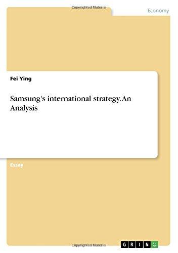 Download Samsung's International Strategy. an Analysis PDF