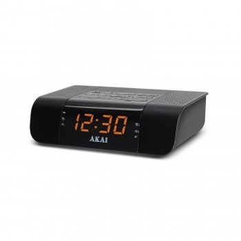 AKAI CEU1007 AM/FM PLL Alarm Clock Radio with USB Charger