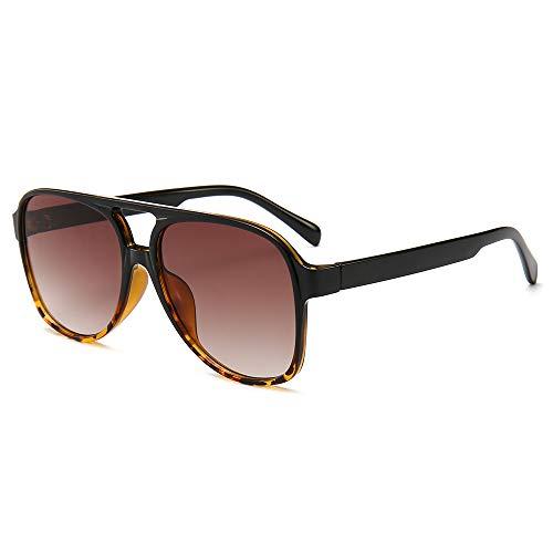 (CHAUOO Classic Aviator Sunglasses 100% UV Protection, Black Leopard, 60/19/138mm)
