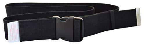 Secure SGB-60B Transfer and Walking Gait Belt with EZ Release Buckle and Belt Loop Holder for Caregiver, Nurse, Therapist (60