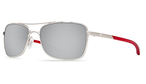 Crystal Silver Sunglasses Costa Red Frame Temples Mirror Palapa Lens qx6w0t0B4