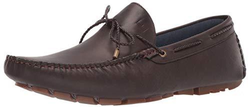Tommy Hilfiger Men's Arias Driving Style Loafer Dark Brown 10.5 Medium US (Loafer Hilfiger Men Tommy)