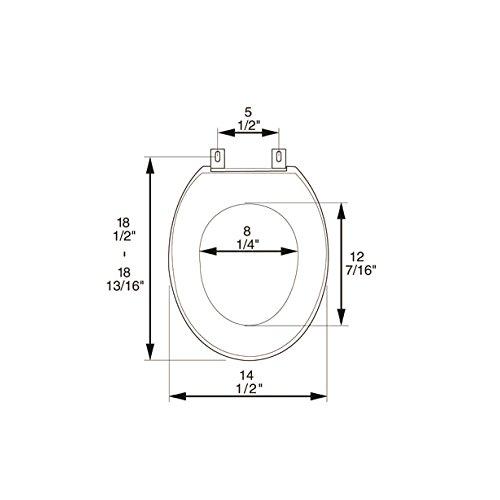durable service Bath Décor 2F1E5-00 Premium Plastic Elongated Toilet Seat with Adjustable Hinge