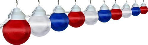 Polymer Products LLC 1699-00515 Patriotic Ten Globe String Light Set