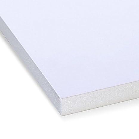 Cameron TW planchas de Espuma de poliestireno expandido 10 mm 50 x 70 cm 24 Placas lámina de Espuma laminada de cartón recubierta de Colour Blanco: ...