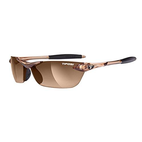 Tifosi Womens Seek 0180404779 Wrap Sunglasses,Crystal Brown