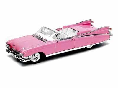 Cadillac Eldorado Set (1959 Cadillac ElDorado 1/18 Pink)