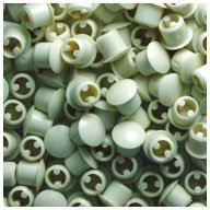 Plastic Almond Plugs (WIDGETCO 1/4 Almond Hole Plugs)