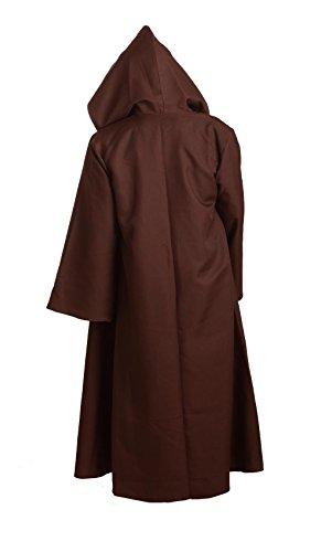 Star-Wars-Herren-Braun-Kapuze-Hooded-Jedi-Robe-Gewand-Umhang-Cosplay-Kostme-S-3XL