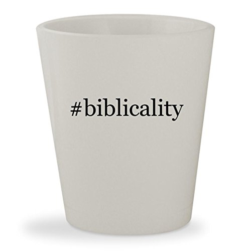 #biblicality - White Hashtag Ceramic 1.5oz Shot (Costume Dictionary Meaning)