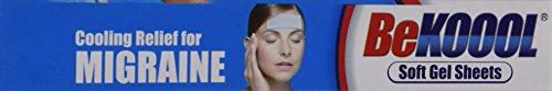 Be Koool Cooling Relief for Migraine Soft Gel Sheets 4 Each by BeKoool (Image #2)