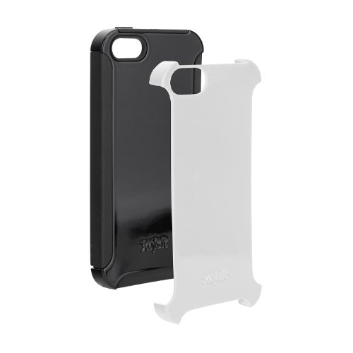 Xqisit 15572 Rugged CASE FOR iPhone 5S Black/White