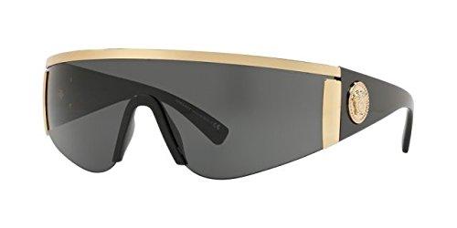 Versace Sunglasses Gold/Grey Metal - Non-Polarized - 40mm