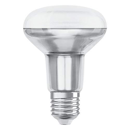 OSRAM LED SUPERSTAR R80 Bombilla LED reflectora , Casquillo E27 , 2700 K , 5,90 W , Equivalente a 60W , Blanco cálido