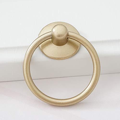 LBFEEL Drop Ring Pull Bronze Cabinet Knob Drawer Pull Handle in Black Gold Dresser Knob (Gold)