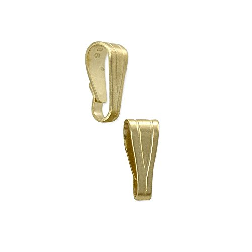 JewelrySupply Small Snap On Bail 5x2mm 14k Solid Yellow Gold