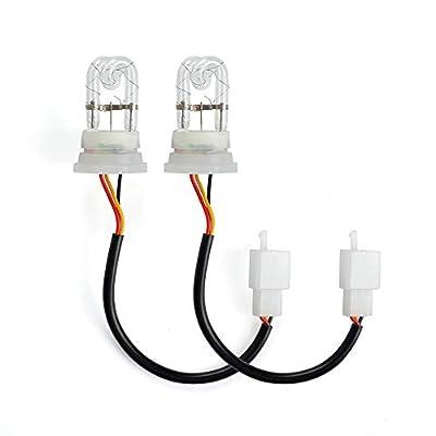 2 Pcs White Hide Away Strobe Tubes Replacement Bulbs for 80W / 120W / 160W Hide A Way HID Emergency Hazard Warning Headlight Strobe Light Kit System: Automotive