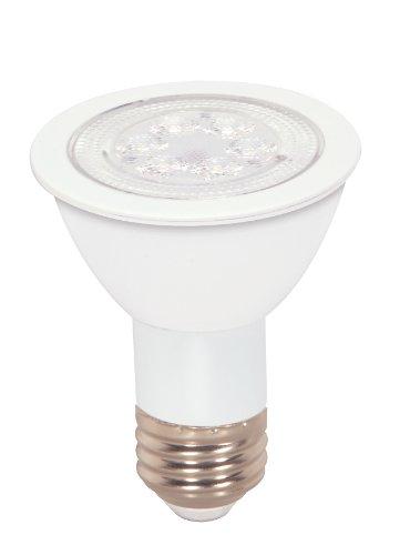 Satco S9083 7 Watt (50 Watt) 430 Lumens PAR20 LED Cool White 4000K 40 Beam Ditto Light Bulb, Dimmable - Satco Light Bulb Color Reflector