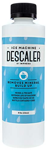 Machine Cleaner/Descaler - 4 Uses Per Bottle - Made in USA - Works on Scotsman, Manitowoc and Virtually All Other Brands (Ice Maker Cleaner/Icemaker Cleaner) ()