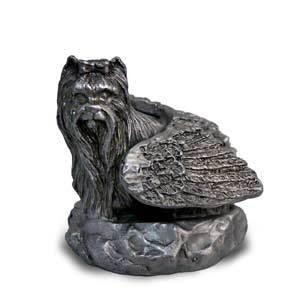Yorkie Yorkshire Terrier Pewter Angel Figurine Statue