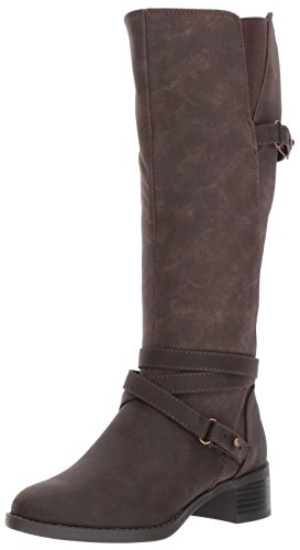(Easy Street Women's Carlita Harness Boot, Brown/Shimmer, 9 M)