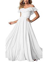 Sophie Womens Spaghetti Straps V-Neck Bridesmaid Dress Chiffon Zipper A-Line Floor Length