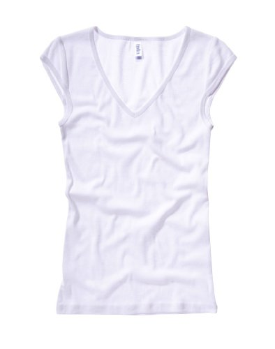 Bella+Canvas Damen Modisches Top 'Tori' mit V-Ausschnitt 8705 White L