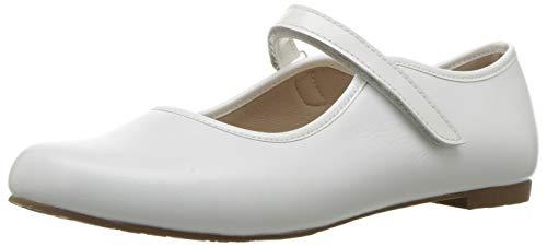 Elephantito Girls' Coco MJ Mary Jane Flat, White, 11.5 Medium US Little Kid for $<!--$73.00-->