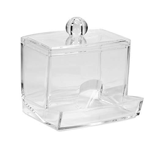 ZARADDIA 면봉 상자 실용적인 면봉 Q-팁 메이크업 스토리지 주최자 상자 화장품 투명 홀더 케이스