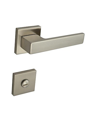 Brushed Nickel Alloy One Set Door Handle WC Hole - Chrome Portland Single Handle