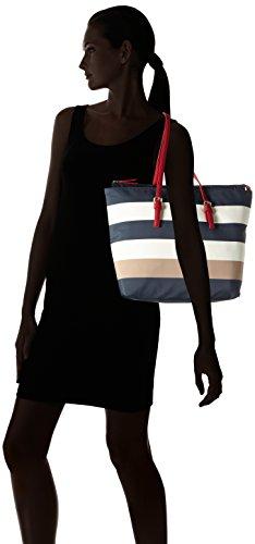 Tommy Hilfiger Modern Nylon Corporate, Sac Femme, Multicolore (Midnight / Turtldove / Sand), 15x31x40 cm