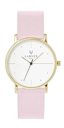 Zeigt laruze die rosa Zifferblatt rosa gold sandgestrahlt Damen